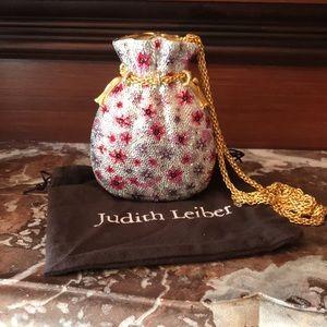 Judith Leiber Crystal Miser Pouch Minaudiere